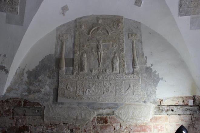 Relief im Eingang