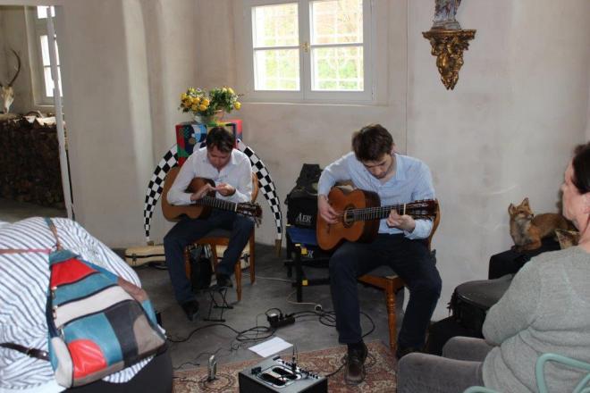 Die Musiker während des Konzerts